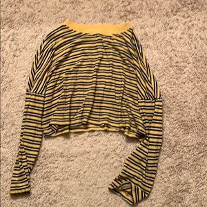 Soft, GRUNGE striped cropped long sleeve